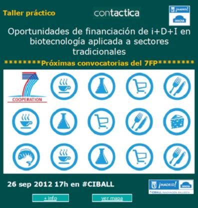 Sesión sobre financiación de i+D+I en biotecnología aplicada a sectores agroalimentarios tradicionales